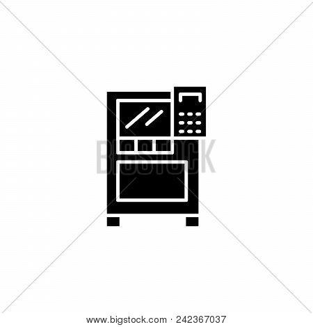 Control Panel Black Icon Concept. Control Panel Flat  Vector Website Sign, Symbol, Illustration.