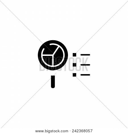 Data Analysis Black Icon Concept. Data Analysis Flat  Vector Website Sign, Symbol, Illustration.