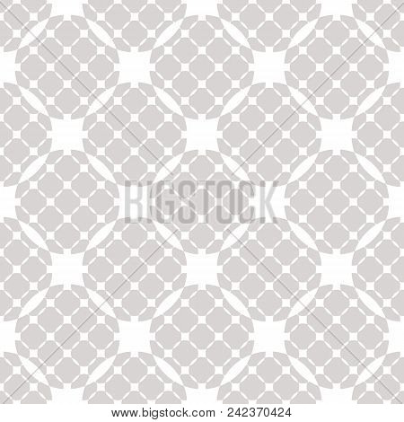 Funky Style Seamless Pattern. Simple Geometric Texture With Grid, Lattice, Mesh. Abstract Background