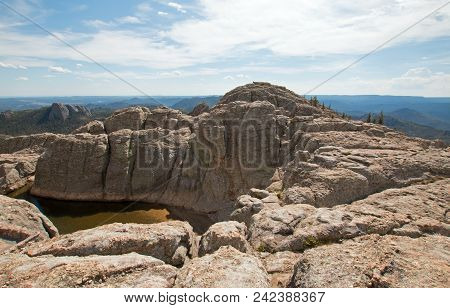 Small Reservoir At The Top Of Black Elk Peak [formerly Harney Peak] In The Black Hills In Custer Sta