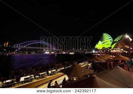 Sydney, Australia - May 25 2018: An Evening Of Fun For Sydneysiders And Tourists On Opening Night Of