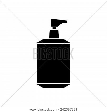 Liquid Soap Vector Icon On White Background. Liquid Soap Modern Icon For Graphic And Web Design. Liq