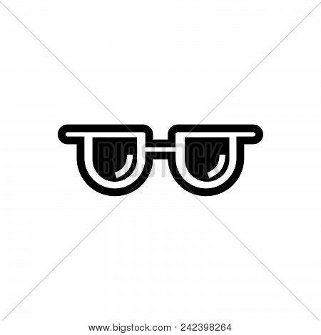Sun Glasses Vector Icon On White Background. Sun Glasses Modern Icon For Graphic And Web Design. Sun