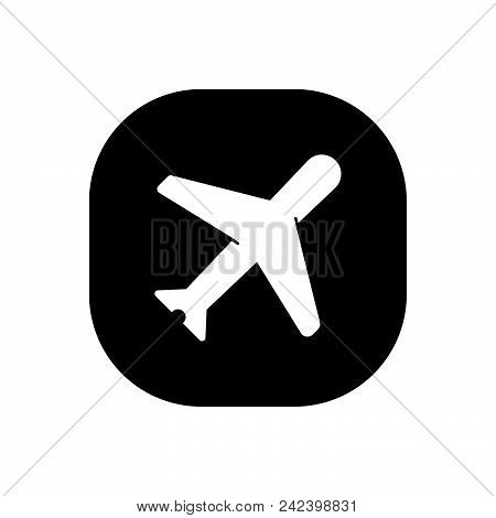 Plane Vector Icon On White Background. Plane Modern Icon For Graphic And Web Design. Plane Icon Sign