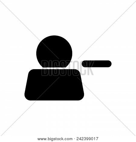 Delete Account Vector Icon On White Background. Delete Account Modern Icon For Graphic And Web Desig