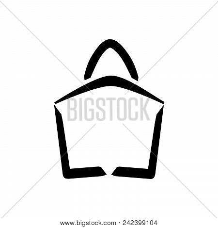 Shopping Bag Vector Icon On White Background. Shopping Bag Modern Icon For Graphic And Web Design. S