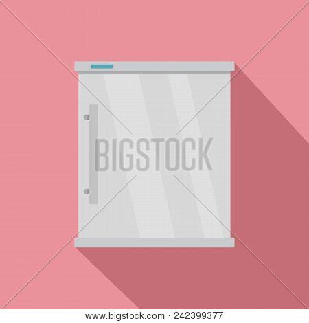White Refrigerator Icon. Flat Illustration Of White Refrigerator Vector Icon For Web Design