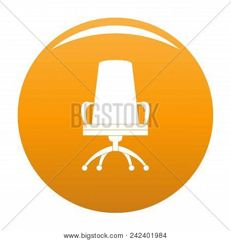 Director Chair Icon. Simple Illustration Of Director Chair Vector Icon For Any Design Orange