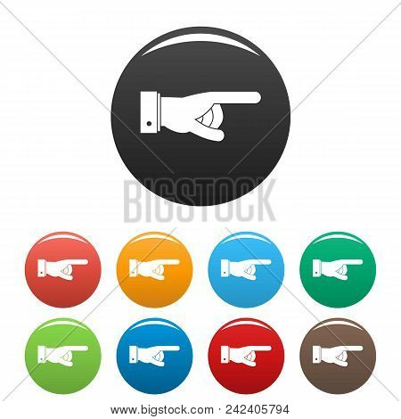 Hand Go Icon. Simple Illustration Of Hand Go Vector Icons Set Color Isolated On White
