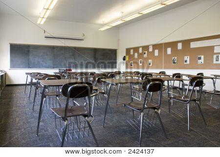 Sala de aula da escola de vazio