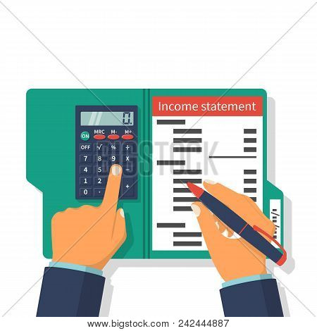 Income Statement. Accounting Finance. Income Money. Men Write Documents, Statement Of Income. Income
