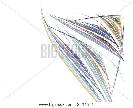 Abstract Wine Glass Image Against Black