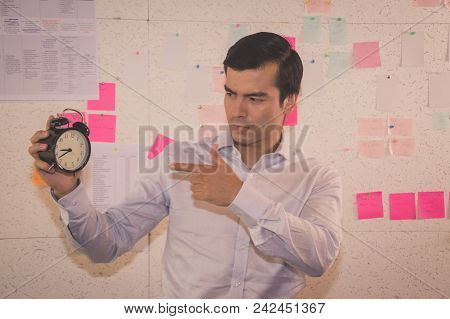 Business Concepts. Businessman Is Working In Office. Business People Work Happily And Relax. The Bus