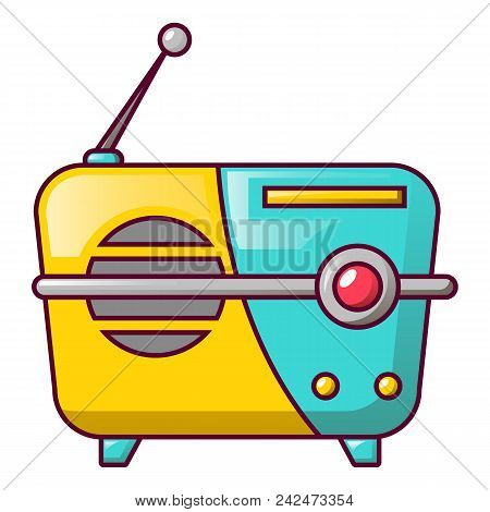 Small Portable Radio Icon. Cartoon Of Small Portable Radio Vector Icon For Web Design Isolated On Wh