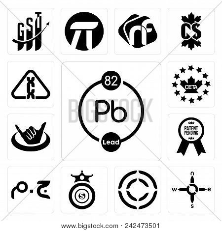 Set Of 13 Simple Editable Icons Such As Chemical, N S E W, Copyright, Oligarchy, Egyptian Pound, Pat