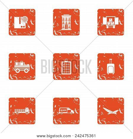 Commode Icons Set. Grunge Set Of 9 Commode Vector Icons For Web Isolated On White Background