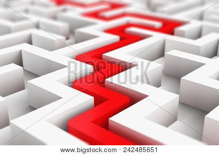 Creative Abstract Success, Perspective Vision, Marketing, Strategy, Finding Solution And Motivation