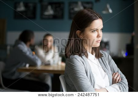 Offended Frustrated Millennial Woman Feeling Upset Suffering From Loneliness Having No Friends Or Bo