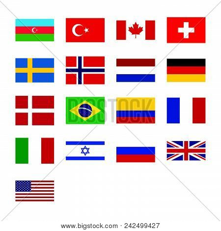 Flags Set Vector Icon