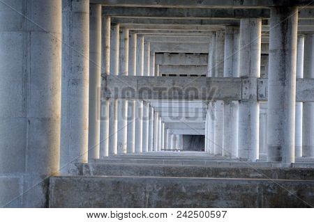 The Structure Supporting The Underside Of A Bridge
