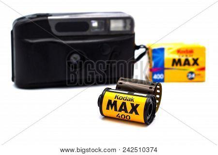 Bangkok Thailand - May 16, 2018: Kodak Gold Max 400 For Film Camera, Old Various Vintage 35mm Film R