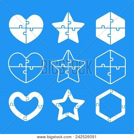 White Puzzle Shape - Vector & Photo (Free Trial) | Bigstock