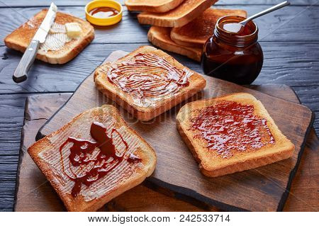 Savory Toasts With Butter And Yeast Extract