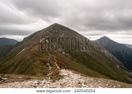 Klin And Most Rocky Bystra Peak On The Background From Koncista Peak In Western Tatras Mountains On