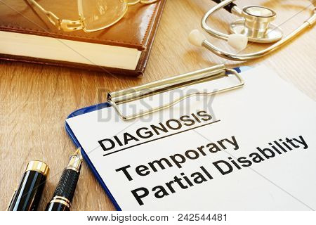Document with name Temporary Partial Disability (TPD). poster
