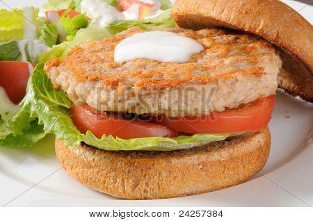 Low Fat Chicken Or Turkey Burger