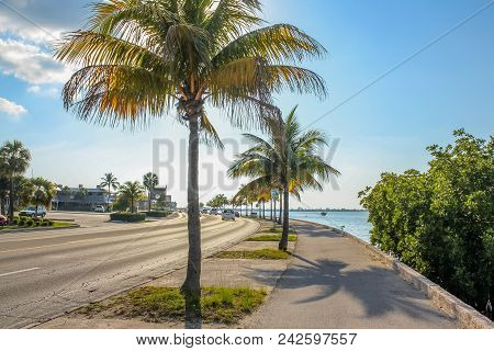 The Overseas Highway, The Highway That Connects The Islands Keys From Florida, Called North Roosevel