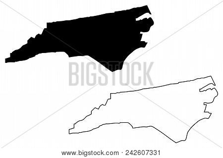 North Carolina Map Vector Illustration, Scribble Sketch North Carolina Map