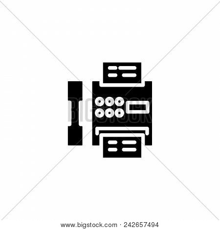 Pay Telephone Black Icon Concept. Pay Telephone Flat  Vector Website Sign, Symbol, Illustration.