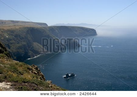 Cliff With Fog