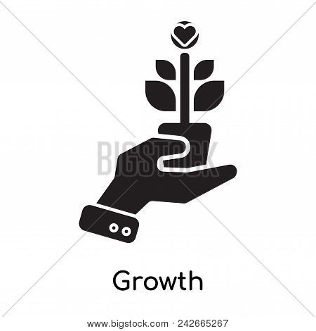 Growth Icon Isolated On White Background For Your Web And Mobile App Design