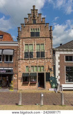 Edam, Netherlands - August 25, 2017: City Museum In The Historic Center Of Edam, Netherlands