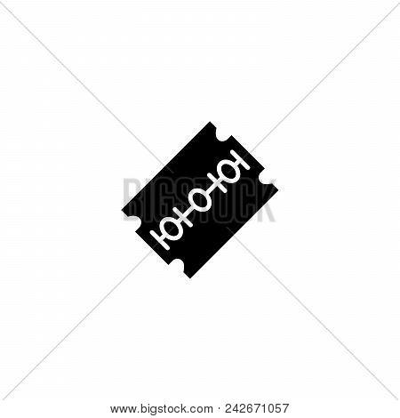 Razor Blade Black Icon Concept. Razor Blade Flat  Vector Website Sign, Symbol, Illustration.