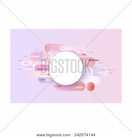 Trendy Background Template With Vibrant Gradient Purple Blue Violet Colors And Abstract Geometric Sh