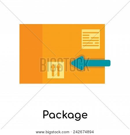 Package icon isolated on white background for your web and mobile app design poster