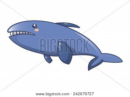 Killer Whale Icon. Cartoon Of Killer Whale Vector Icon For Web Design Isolated On White Background