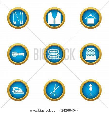 Wash Myself Icons Set. Flat Set Of 9 Wash Myself Vector Icons For Web Isolated On White Background