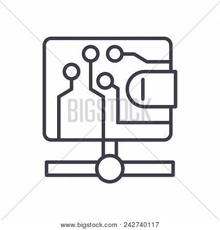Bitcoin Transactions Black Icon Concept. Bitcoin Transactions Flat  Vector Website Sign, Symbol, Ill