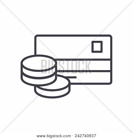Cash Withdrawal Black Icon Concept. Cash Withdrawal Flat  Vector Website Sign, Symbol, Illustration.