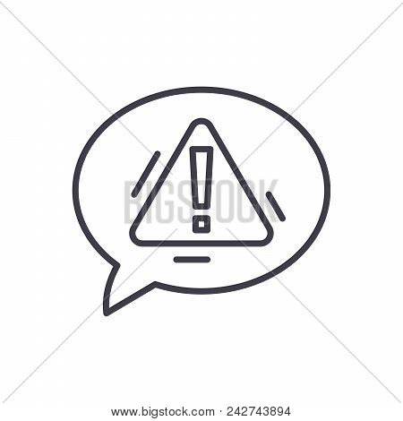 Expressing Caution Black Icon Concept. Expressing Caution Flat  Vector Website Sign, Symbol, Illustr