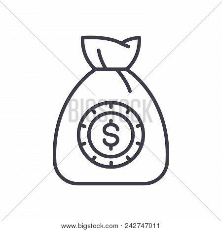 Initial Capital Black Icon Concept. Initial Capital Flat  Vector Website Sign, Symbol, Illustration.