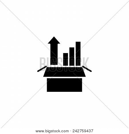 Sharp Rise Black Icon Concept. Sharp Rise Flat  Vector Website Sign, Symbol, Illustration.