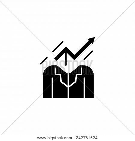 Skills Development Black Icon Concept. Skills Development Flat  Vector Website Sign, Symbol, Illustr