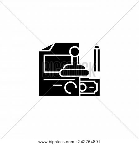 Staff Rewards Black Icon Concept. Staff Rewards Flat  Vector Website Sign, Symbol, Illustration.