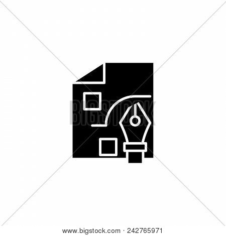 Strategy Development Black Icon Concept. Strategy Development Flat  Vector Website Sign, Symbol, Ill
