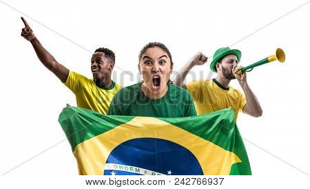 Brazilian fan friends celebrating
